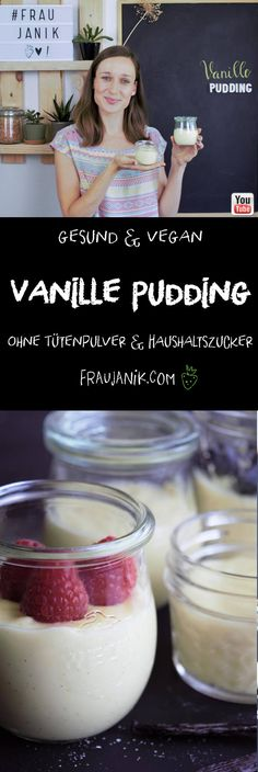 Make vanilla pudding yourself vegan Homemade without bag powder and without table sugar! Make vanilla pudding yourself vegan Homemade without bag powder and without table sugar! Easy Vanilla Cake Recipe, Easy Cake Recipes, Holiday Desserts, Easy Desserts, Pudding Desserts, Healthy Desserts, Cake Vegan, Chip Cookie Recipe, Pumpkin Spice Cupcakes