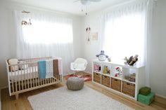 The Rhea Crib in Elodie's Not-Pink Nursery on @Gilda Locicero Therapy  #nursery #baby #crib