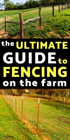 Homestead and Survival: Get the most information on different types of farm fencing. Everything you need to know about t-posts, wood posts, welded wire, woven wire and more. The Farm, Mini Farm, Small Farm, Homestead Layout, Homestead Farm, Homestead Survival, Homestead Living, Survival Prepping, Survival Gear
