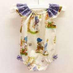 Holly Hobbie Flutter Sleeve Romper | Baby Girl Pattern: Fresh Designs & Patterns