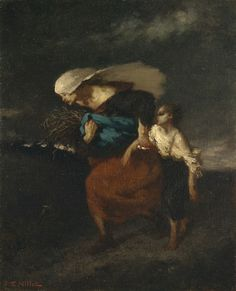 Retreat from the Storm  By Jean-François Millet