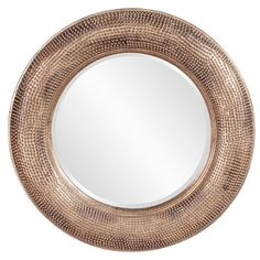 Raymus Warm Silver And Gold Round Mirror Howard Elliott Collection Round Mirrors Home Deco