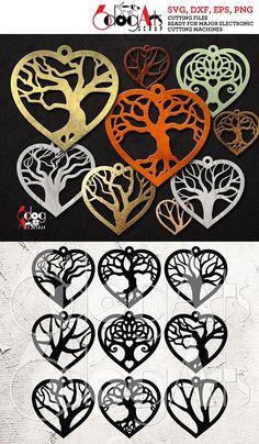 9 Wood / Acrylic Tree of Life Heart Earring / Pendant. 9 Wood / Acrylic Tree of Life Heart Earring Leather Earrings, Leather Jewelry, Metal Jewelry, Stylo 3d, 3d Prints, Scroll Saw Patterns, Heart Earrings, Wire Earrings, Silver Earrings