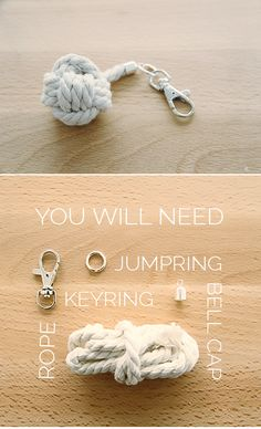 7 Days of Christmas Crackers // DIY Monkey Knot Keyring - Fall For DIY