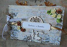 Svadba - Kniha hostí - brown vintage - 4824524_