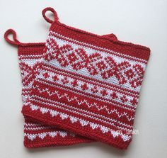 Knitting Paterns, Christmas Knitting Patterns, Fair Isle Knitting, Pot Holders, Knit Crochet, Projects To Try, Xmas, Dishcloth, Purses