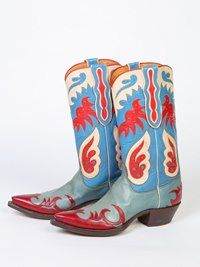 Hank Williams Nudie Cohn (famous tailor) boots. [Courtesy of Nudie Cohn]