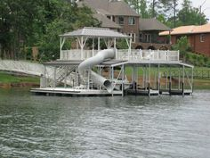 boathouse with slide