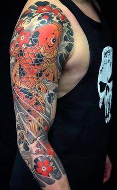 Carp tattoo, koi fish tattoo, fish tattoos, japanese tattoo art, japanese s Koi Dragon Tattoo, Pez Koi Tattoo, Koi Tattoo Sleeve, Dragons Tattoo, Ink Tattoo, Full Sleeve Tattoos, Tattoo Sleeve Designs, Tattoo Designs Men, Tattoo Fish