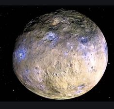 Dwarf planet Ceres is shown in these false-color renderings, which highlight differences in surface materials. Images from NASA's Dawn spacecraft were used t. Asteroid Belt, Dwarf Planet, Nasa Missions, Space And Astronomy, Space Planets, Our Solar System, Galaxies, Mars, Vestidos