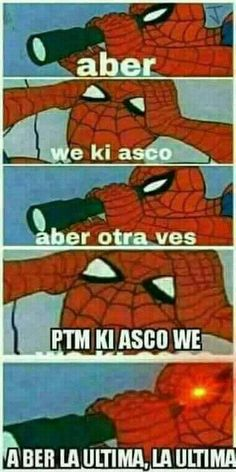 Pta ki asco :'v Funny Spanish Memes, Spanish Humor, Avengers Memes, Marvel Memes, Funny Images, Funny Pictures, Funny Pics, Spiderman Meme, Meme Faces