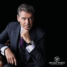 Pierce Brosnan Ambassador of Speake-Marin - Passion Horlogère - Pierce Brosnan Ambassador of Speake-Marin - Business Man Photography, Portrait Photography Men, Corporate Photography, Corporate Portrait, Corporate Headshots, Business Portrait, Poses For Men, Male Poses, Hollywood Actor