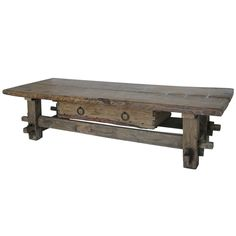 1stdibs.com | Antique Tavern Coffee Table With Drawer