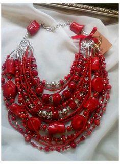Coral Jewelry, Boho Jewelry, Jewelry Crafts, Jewelry Art, Beaded Jewelry, Jewelery, Handmade Jewelry, Fashion Jewelry, Unique Jewelry