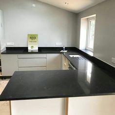 Nero Venata - Stevenage, Hertfordshire - Rock and Co Granite Ltd Stevenage, Marble Effect, Black Marble, Granite, Corner Desk, Kitchen, Furniture, Home Decor, Corner Table