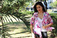 Pink Floral Kimono, Kimono Cardigan, Kimono Robe, Kimono Jacket / Sheer Cover Up - One Size This pink kimono cardigan is perfect for the beach, a