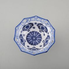 """Traditional Blue & White Hand-Painted Footed Bowl - 12"""" Accent Decor, Home Accessories, Decorative Bowls, Blue And White, Hand Painted, Traditional, Tableware, Stuff To Buy, Dinnerware"""