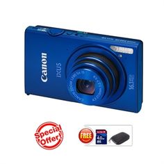 CANON IXUS 240 HS(Blue) (16.1 MP HS CMOS, 5X Optical Zoom, 8.1cms LCD Screen Full HD. ) https://www.magickart.com/