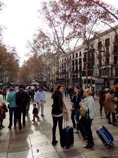 """""""Barcelona's most popular street for tourists, but also for. Barcelona, Four Square, Street View, Lovers, Couple, Street, Architecture, Destinations, Viajes"""