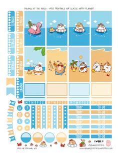 Molang at the Beach - Free Printable by OrganizedPotato