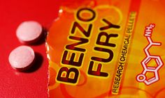 Benzo Fury, one of the banned new drugs, which is said to have effects similar to speed and ecstasy. Photograph: Rex Features