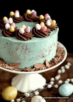 Easter Cake Easy, Easter Cupcakes, Easter Treats, Cakes For Easter, Easter Cake Fondant, Chocolate Easter Cake, Food Cakes, Cupcake Cakes, Easter Recipes