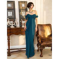 iubito teaca / coloană podea-lungime rochie de seară Georgette (742545) – EUR € 70.53