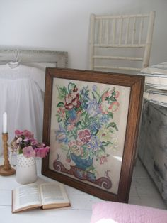 Vintage embroidery from Lavender House Vintage #vintage#antiques#embroidery#needlework#home#interiors