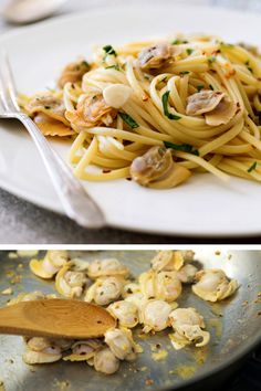 NYT Cooking: Here is a simple, elegant take on pasta with clam sauce that serves as a beautiful, light dinner with salad, perfect in advance of a movie night or reading session on the couch with family or friends. The key to its success is using less pasta that you generally might, which helps place the focus of the dish squarely on the meaty clams.
