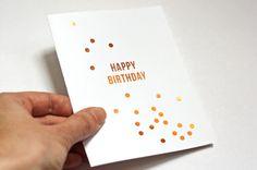 Cómo hacer tarjetas de láminas metalizadas DIY