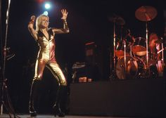 Cherie Currie on stage.