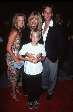 Goldie Hawn with her kids Kate Hudson, Oliver Hudson and Wyatt Russell.....yes, Oliver plays on Rules of engagement......Kurt has a boy w/ Season Hubley...Boston Russell