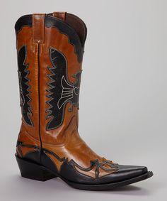 Look what I found on #zulily! Camel & Black Cowboy Boot - Women by Pecos Bill #zulilyfinds