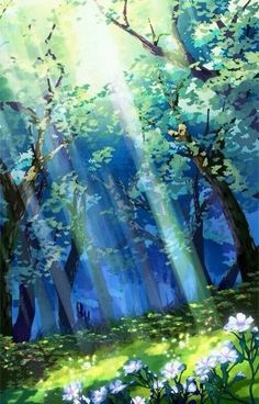 Reminds me of zelda scenery paisajes anime, beautiful landscapes, anime backgrounds wallpapers, anime Fantasy Art Landscapes, Fantasy Landscape, Beautiful Landscapes, Abstract Landscape, Painting Abstract, Acrylic Paintings, Watercolor Landscape, Watercolor Circles, Anime Backgrounds Wallpapers