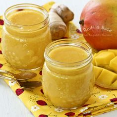 Mango Ginger Smoothie | Food to gladden the heart at RotiNRice.com