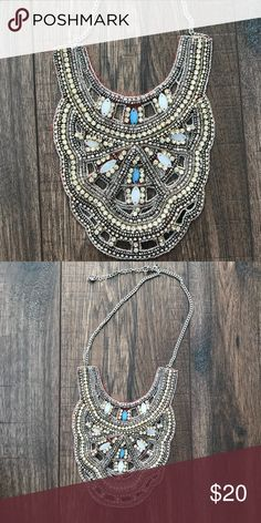 One of a kind beaded statement necklace⭐️ Perfect for holiday parties. Never wore it sadly 😭needs a good home. Great condition! Perfect mix of Metallics! Can be worn with gold & silver!😍 Jewelry Necklaces