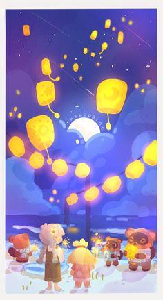 Happy One Year Anniversary, Animal Crossing Fan Art, Miss You All, Kawaii Drawings, New Leaf, Illustration Art, Illustrations, Make It Yourself, Brain