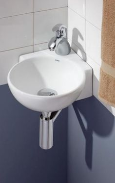 Minimalist Wall Mount Corner Sink   Bathroom | A Teeny Tiny Home. |  Pinterest | Corner Sink Bathroom, Corner Sink And Wall Mount