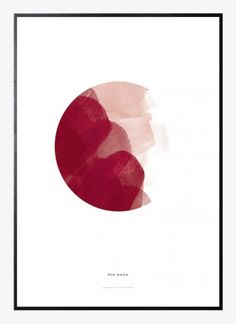Red Moon by Paper Collective | Poster from theposterclub.com
