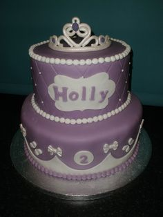 sofia the first cake made for holly's 2nd birthday