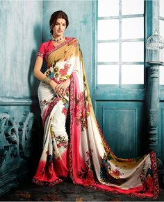 Classical Prints On Georgette Saree With Elegant Borders Buy Any only Rs. 1599 INR For Orders and Queries please contact us on fashionpihu@gmail... or DM me. Limited offer. hurry