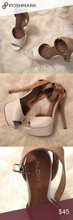 White Aldo heels 5 1/2 in ALDO heels Brand New ALDO Shoes Heels