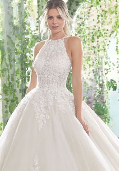 Mori Lee Angelina Faccenda 1728 Primavera Wedding Dress – My World White Lace Wedding Dress, Top Wedding Dresses, Perfect Wedding Dress, Lace Dresses, Bridal Dresses, Mermaid Dresses, Gown Wedding, Modest Wedding, Event Dresses