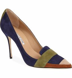 Main Image - Manolo Blahnik 'Durut' Suede Pointy Toe Pump (Women)