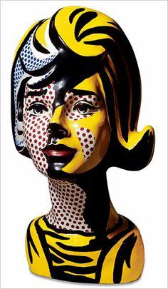 Lichtenstein bust: Roy Lichtenstein