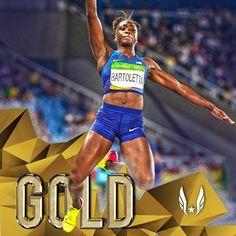 08.17.16 Tianna Bartoletta (USA) wins GOLD!! Jumps a PB 7.17m/23-6.26 to win…