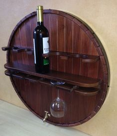 What to Look for in a Wine Rack – Drinks Paradise Barrel Projects, Diy Pallet Projects, Wine And Liquor, Wine And Beer, Rustic Wine Racks, Pallet Wine, Wine Rack Wall, Barrel Furniture, In Vino Veritas
