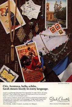 Sarah Coventry Fine Fashion Jewelry Vintage Ad 1971 Collage Assemblage Artwork