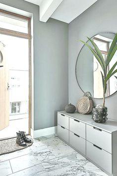 Entrance Furnishing Idea, Corridor Gray in Scandinavian Style . Interior Design Living Room, Living Room Designs, Living Room Decor, Home Entrance Decor, Home Decor, Grey Hallway, Flooring Options, Design Moderne, Cool Rooms