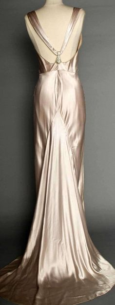 satin evening gown c.1933